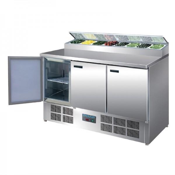 Polar gekühlte Saladette und Pizzatisch 390 Liter