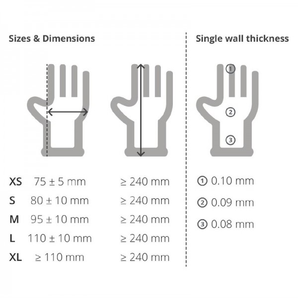 Gepuderte Latexhandschuhe weiß XL