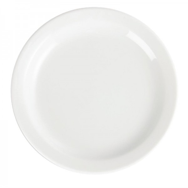 Olympia Whiteware Teller mit schmalem Rand 15cm