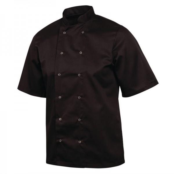 Whites Vegas Kochjacke kurze Ärmel schwarz XL