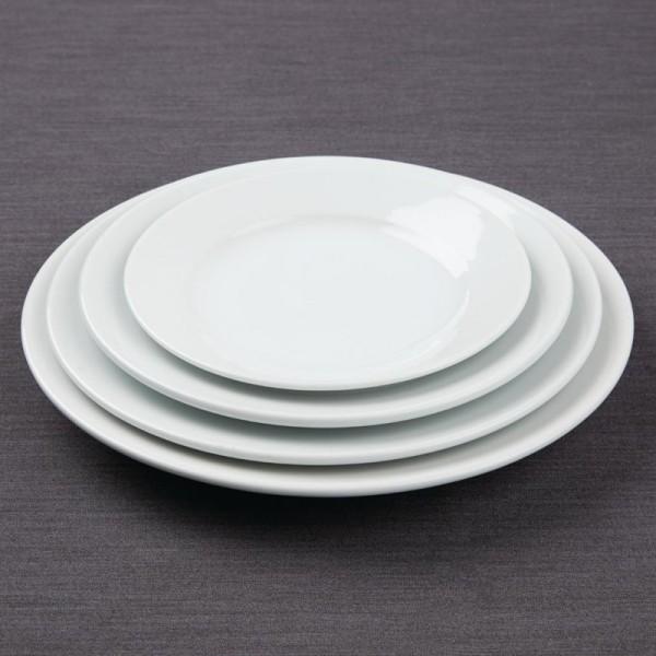 Athena Hotelware runde Teller mit breitem Rand 16,5(Ø)cm