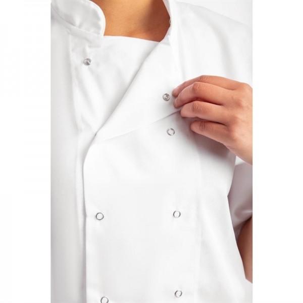 Whites Boston Kochjacke kurze Ärmel weiß M