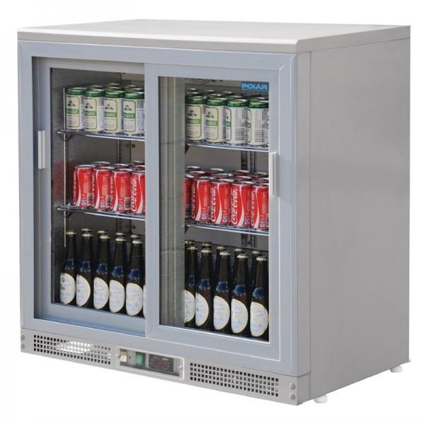 Polar Serie G Barkühlschrank silberfarbig 180 Flaschen