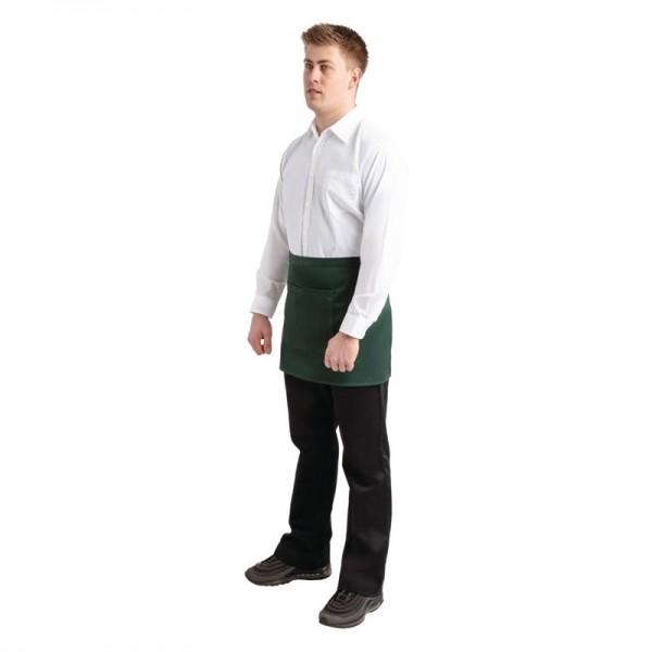 Whites kurze Bistroschürze grün