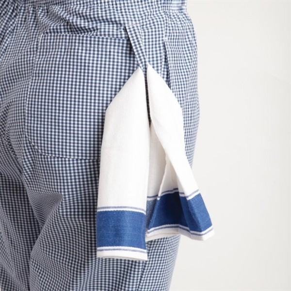 Whites Unisex Kochhose Easyfit blau weiß kleinkariert M