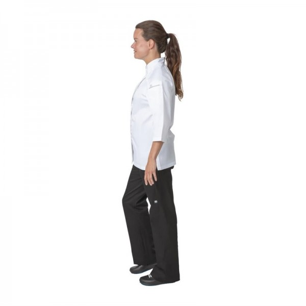 Chef Works Cool Vent Damenkochjacke Verona dreiviertelarm weiß/grau M