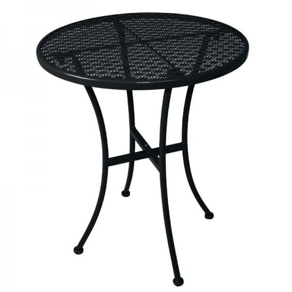Bolero runder Bistrotisch in schlankem Design Stahl schwarz 60cm