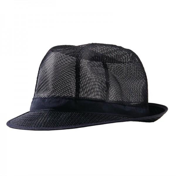Trilby Hut mit Haarnetz dunkelblau Größe L