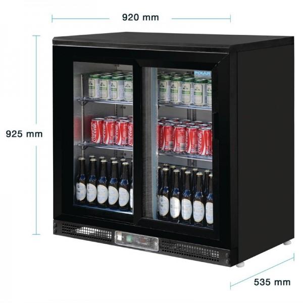 Polar Serie G 2-türiger Barkühlschrank 182 Flaschen