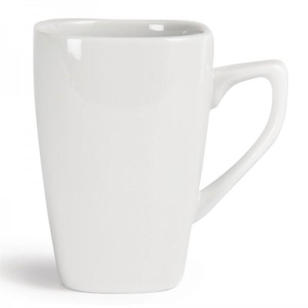 Olympia Whiteware quadratische Kaffeebecher 28,4cl