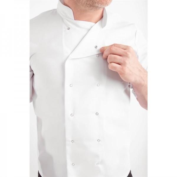 Whites Vegas Kochjacke kurze Ärmel weiß M