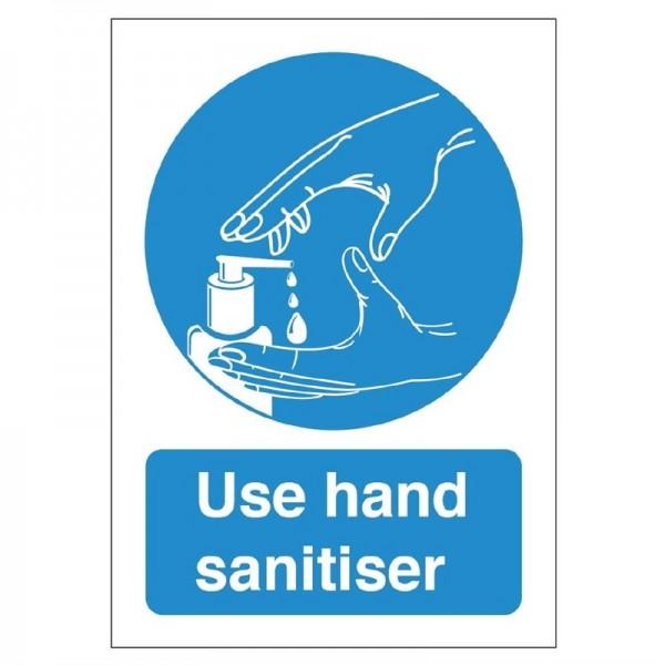 Verwenden Sie das selbstklebende Händedesinfektionsschild 300 mm