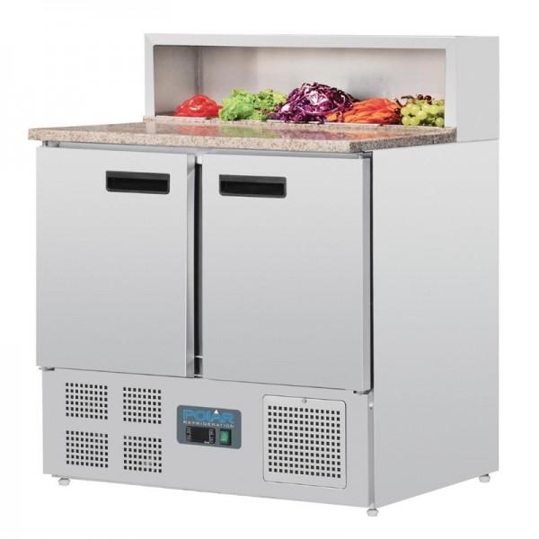 Polar Pizzakühltisch 2-türig 288L