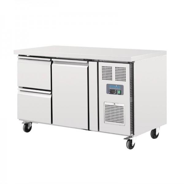 Polar Kühltisch 1-türig mit 2 Schubladen 282L