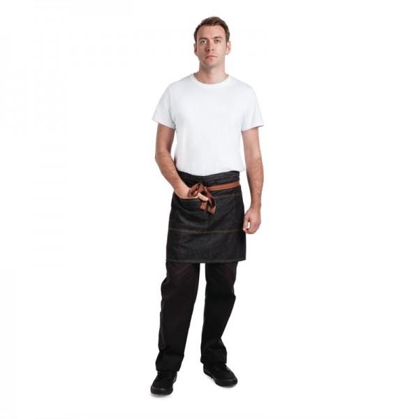 Chef Works Urban Memphis halbe Bistroschürze schwarz