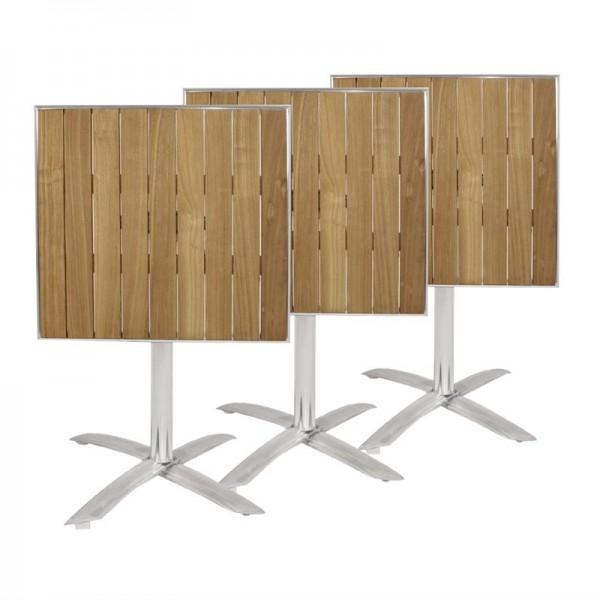 Bolero viereckiger klappbarer Tisch Eschenholz 1 Bein 60cm
