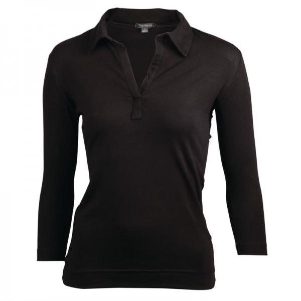 Chef Works Damen T-Shirt mit V-Ausschnitt schwarz M