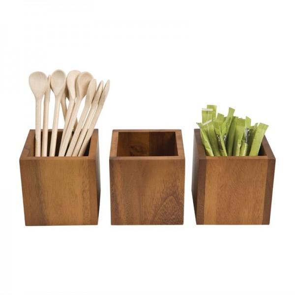 T&G Woodware quadratischer Tischbehälter