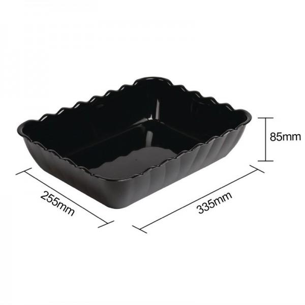 Kristallon Salatschüssel schwarz 4,25L