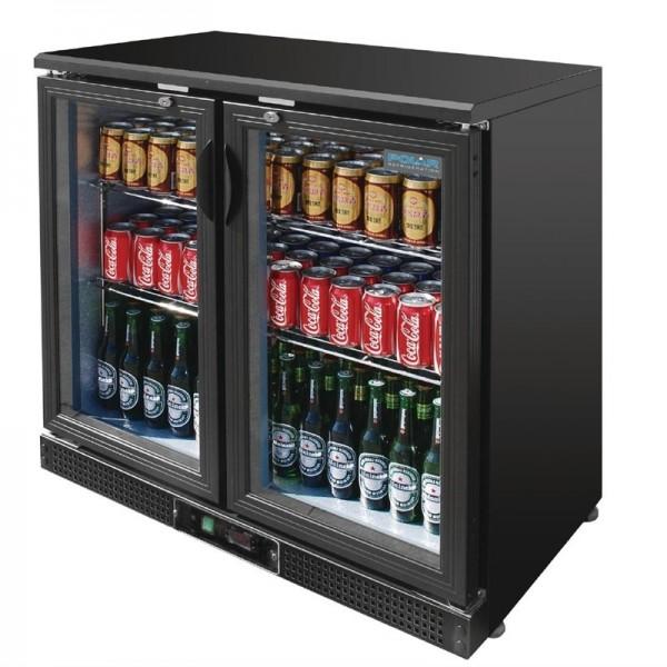 Polar Bar-Kühlvitrine Klapptüren 182 Flaschen