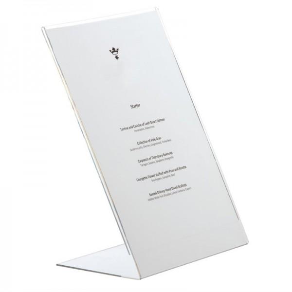 Olympia Tischaufsteller Acryl L-Form A4