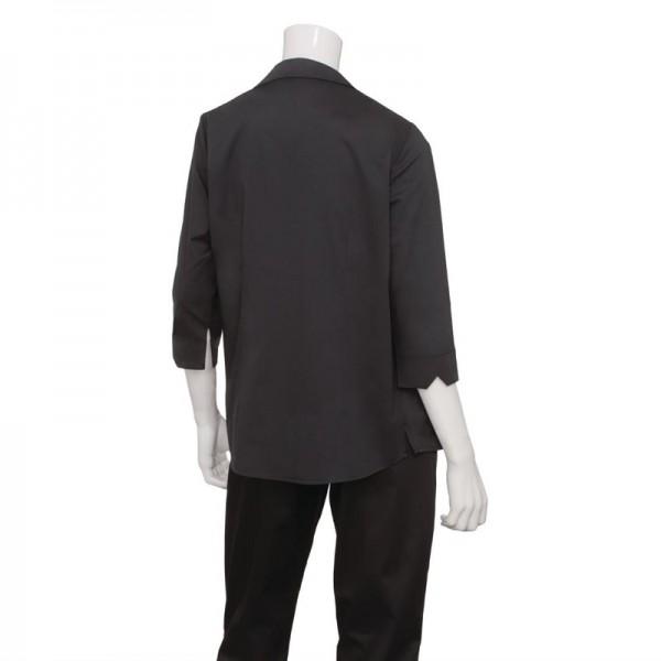 Uniform Works Damen Stretch Hemdbluse dreiviertelarm schwarz L