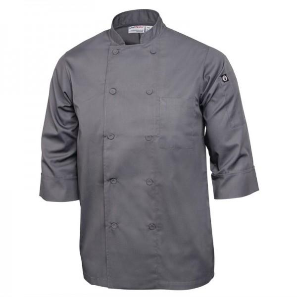 Chef Works Unisex Kochjacke grau L