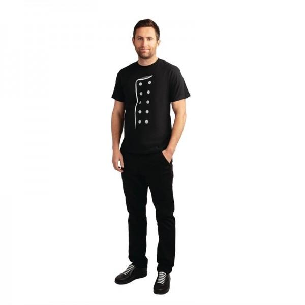 Chef Bedrucktes T-Shirt schwarz Größe L
