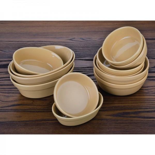 Olympia Stoneware ovale Auflaufformen 18cm