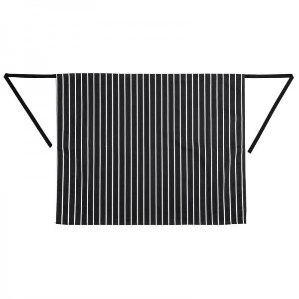 Whites Küchenschürze schwarz-weiß gestreift
