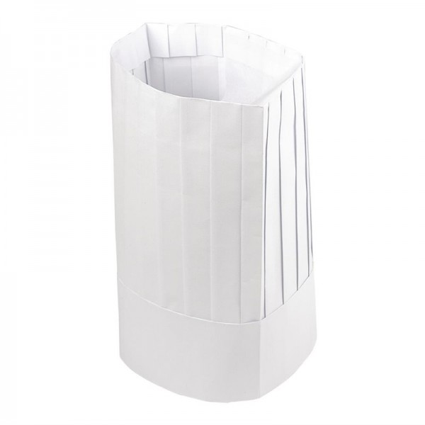 Plastico Einweg-Kochmütze Papier hoch