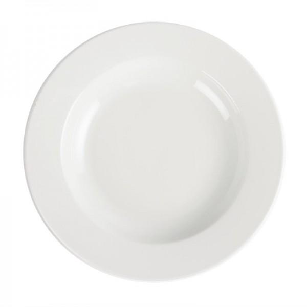 Olympia Whiteware tiefe runde Teller 27cm
