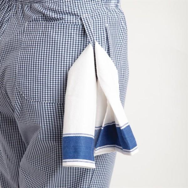 Whites Unisex Kochhose Easyfit blau weiß kleinkariert XL