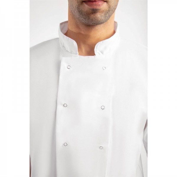 Whites Boston Kochjacke kurze Ärmel weiß L