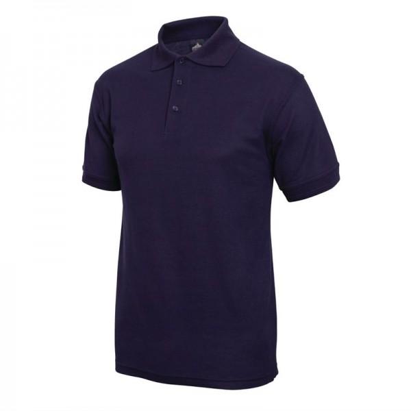 Unisex Poloshirt marineblau M
