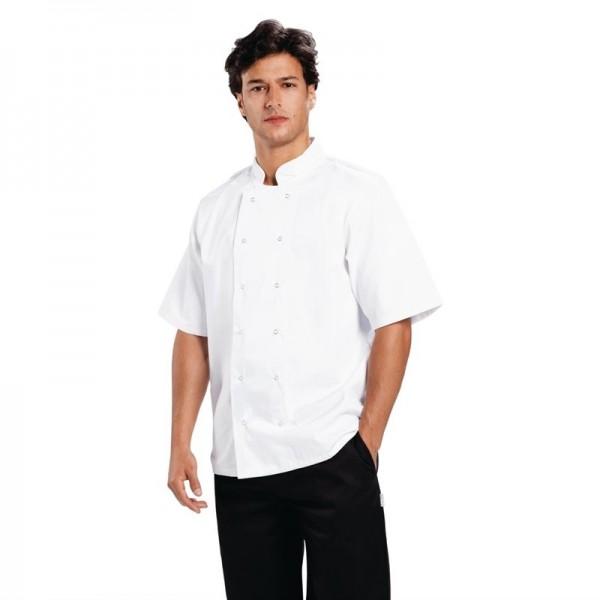 Whites Boston Kochjacke kurze Ärmel weiß XL