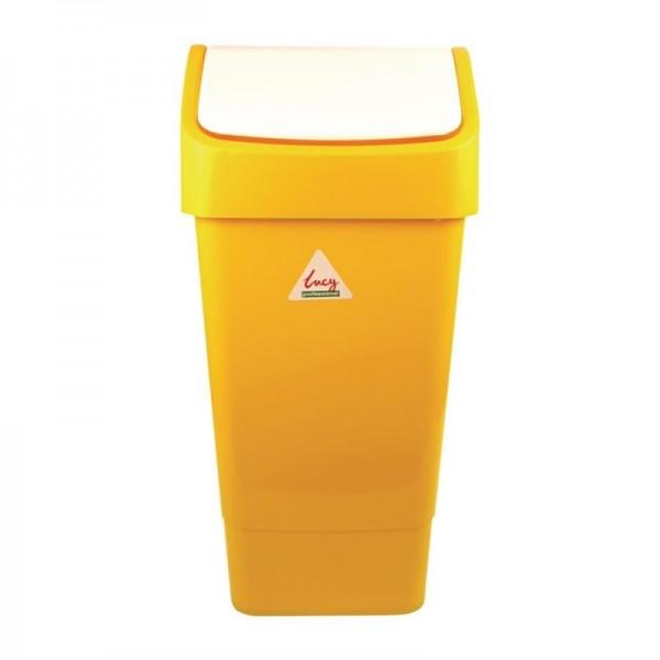 SYR Abfalleimer mit Schwingdeckel gelb 50L