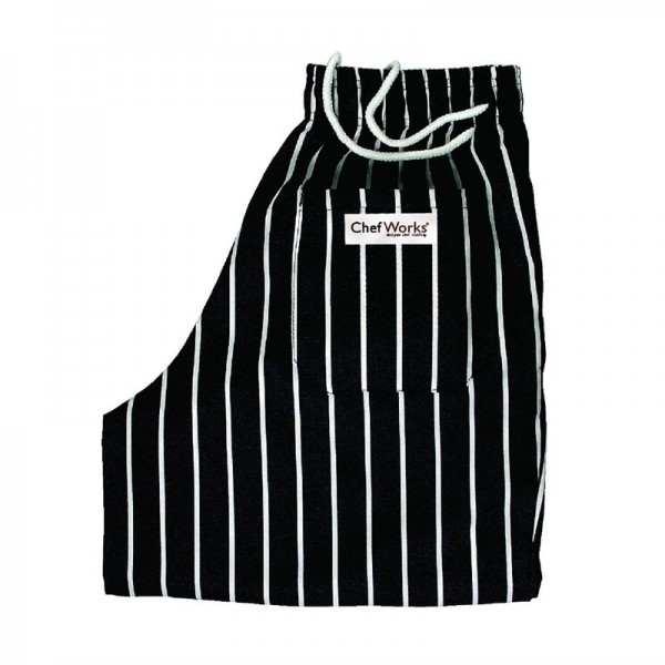 Chef Works Lockere Designer-Kochhose gestreift M
