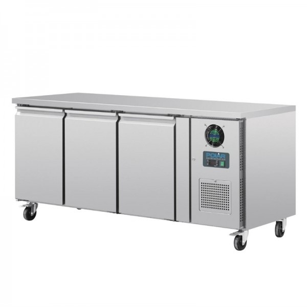 Polar Tiefkühltisch 3-türig 417L