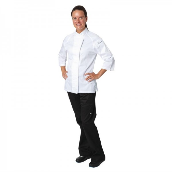 Chef Works Verona Damenkochjacke Dreiviertelärmel weiß L