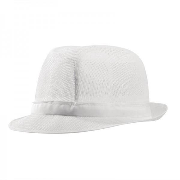 Trilby Hut mit Haarnetz weiß Größe L