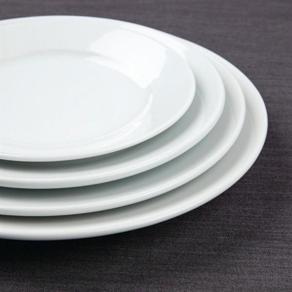 Athena Hotelware runde Teller mit breitem Rand 22,8cm