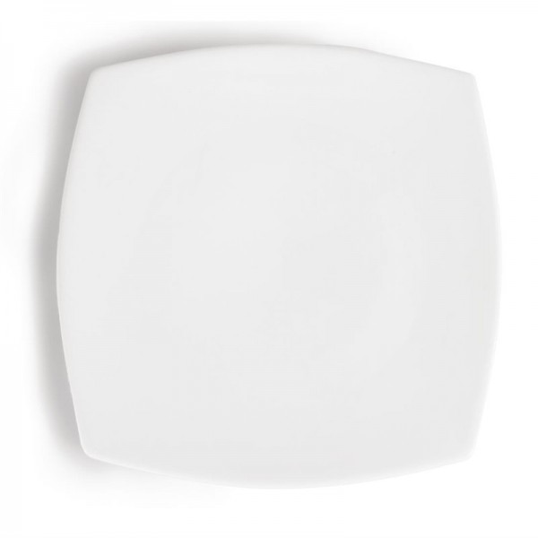 Olympia Whiteware abgerundete quadratische Teller 27cm