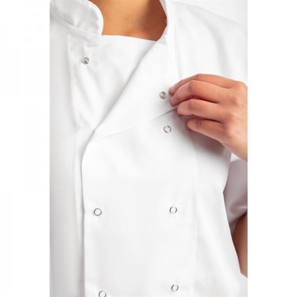 Whites Boston Kochjacke kurze Ärmel weiß S