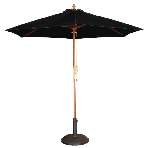 Bolero runder Sonnenschirm schwarz 2,5m