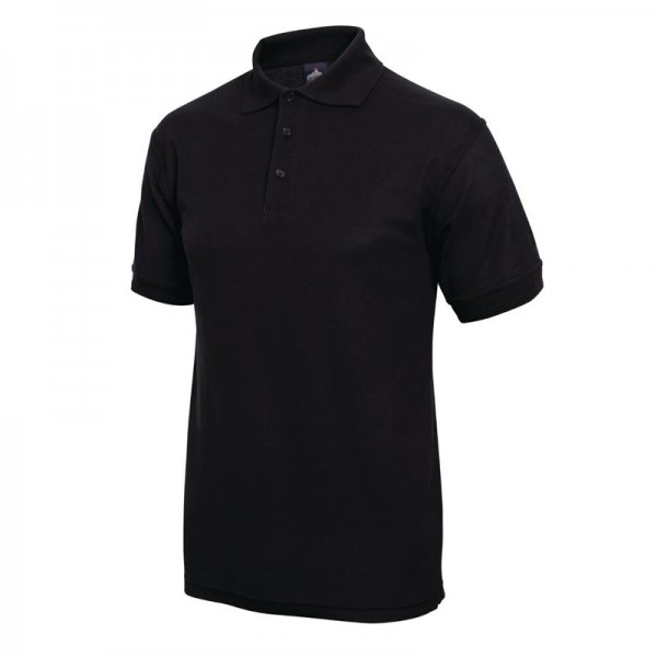 Unisex Poloshirt schwarz XL