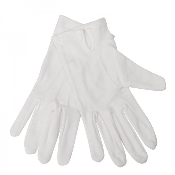 Damen Servierhandschuhe weiß L