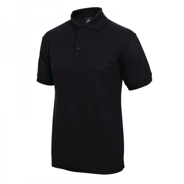Unisex Poloshirt schwarz L