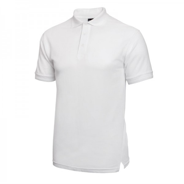 Unisex Poloshirt weiß L
