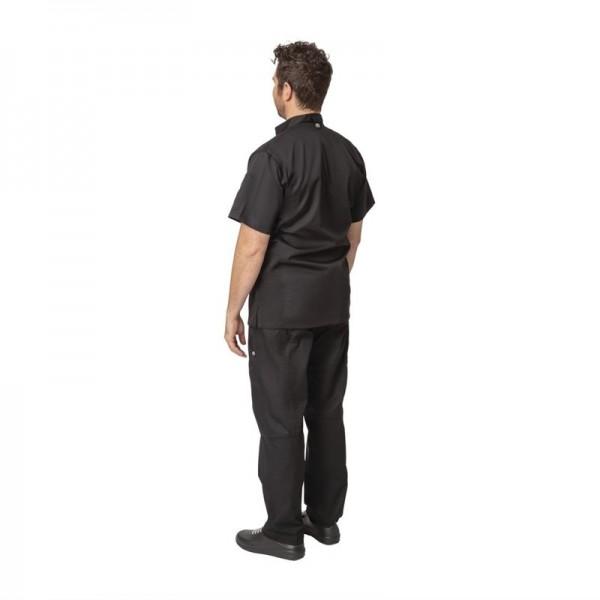 Chef Works Springfield Herrenkochjacke kurze Ärmel schwarz XL